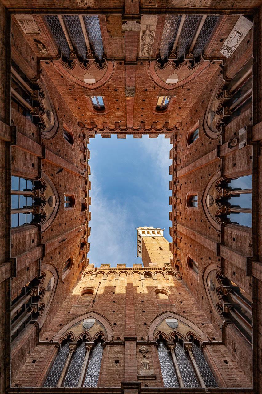Entrone del Palazzo Pubblico e Torre del Mangia foto di Duccio Fiorini